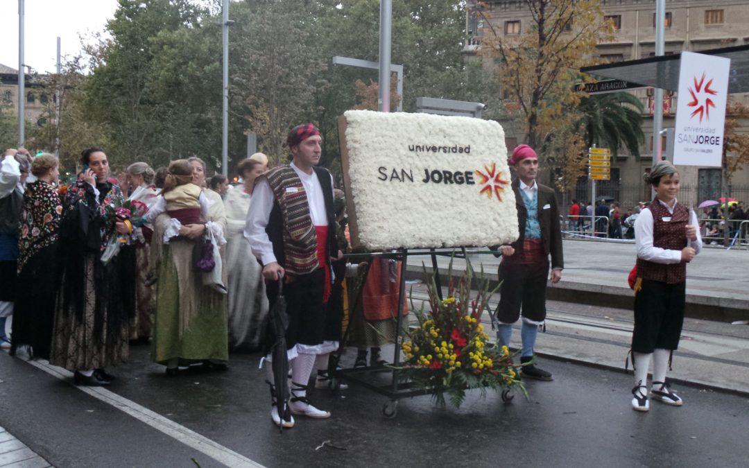 La USJ participa en la Ofrenda de flores