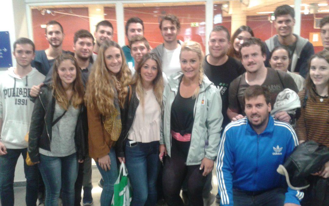 Alumnos de CCAFD asisten al Centro de Alto Rendimiento de Madrid