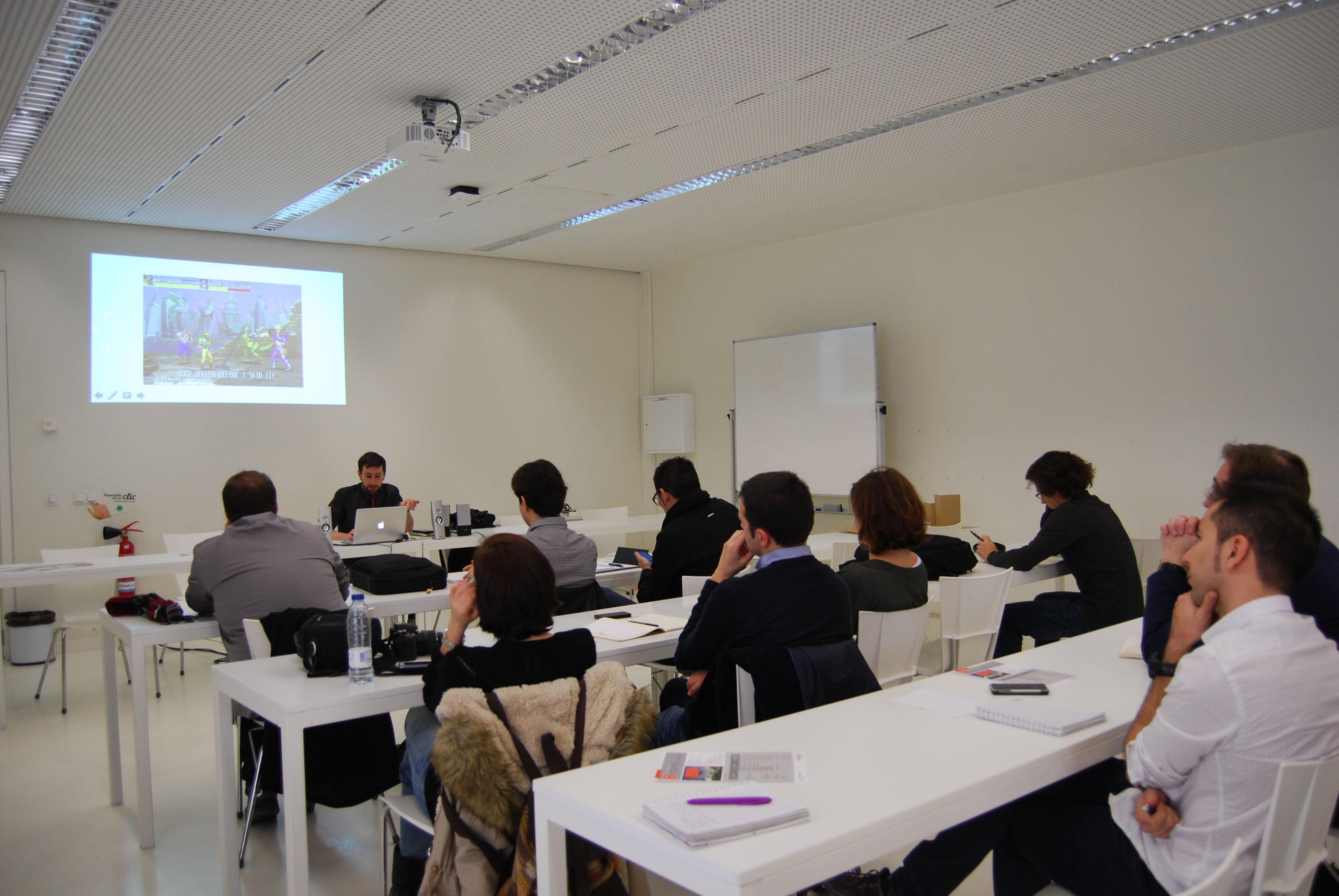 universidad san jorge conferencia manuel saga arquitectura en videojuego