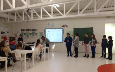 Profesores y alumnos del CEIP los Albares visitan la Universidad San Jorge