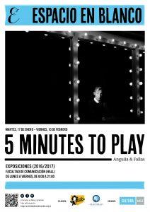 """Espacio en blanco inaugura """"5 Minutes to Play"""", una muestra fotográfica y musical de Pedro Anguila y Julián Fallas"""