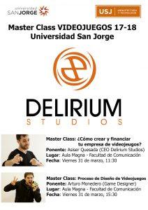 Master Class de videojuegos en la Universidad San Jorge