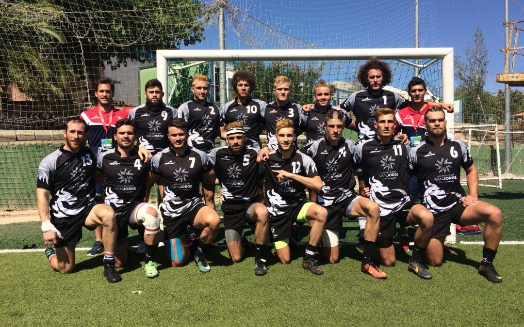 El equipo de rugby 7 de la Universidad San Jorge,  campeón de España universitario