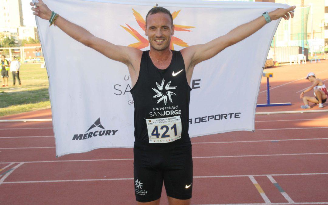 Toni Abadía logra el oro en los Campeonatos de España Universitarios de Atletismo
