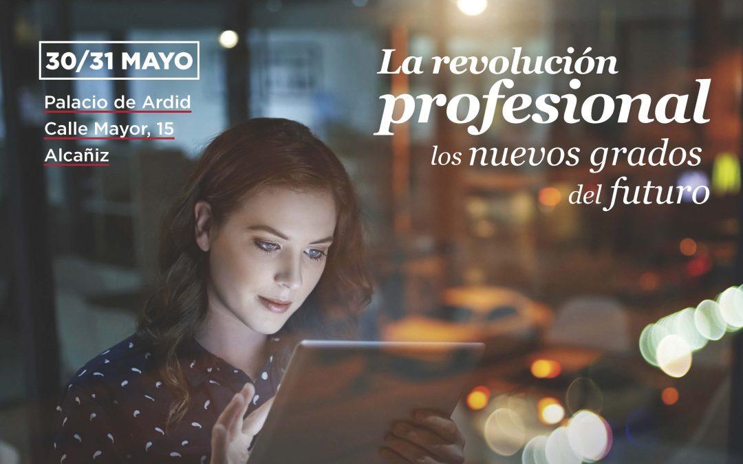 """La Facultad de Comunicación y CC.SS. participa en las jornadas """"La revolución profesional: Los nuevos perfiles demandados"""" en Alcañiz"""