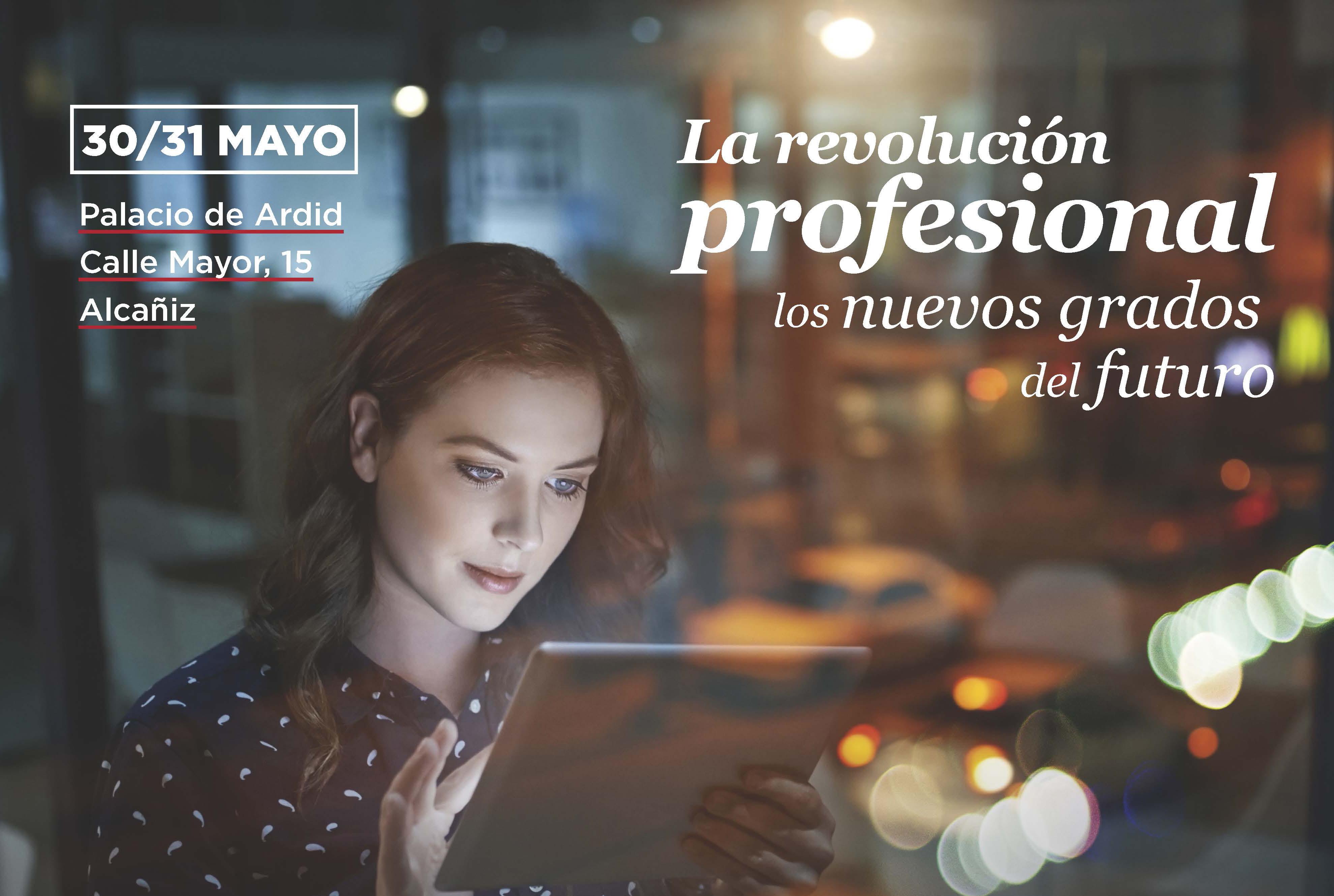 Cartel del ciclo La revolución profesional en Alcañiz