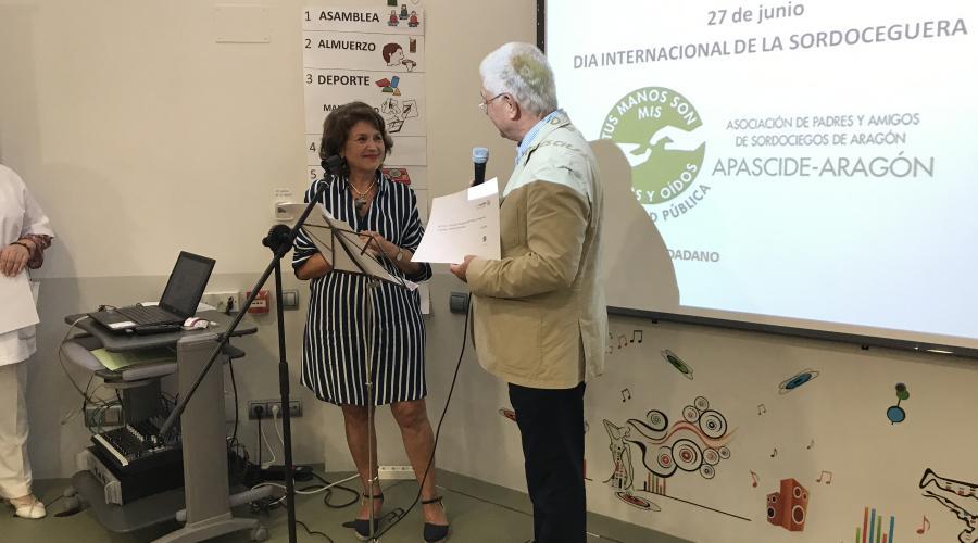 Grupo San Valero celebra con Apascide Aragón el Día Internacional de la Sordoceguera