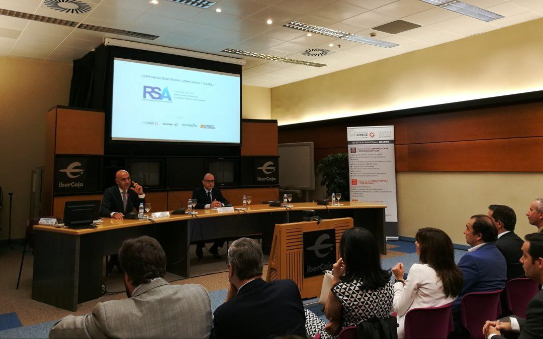 La Universidad San Jorge analiza la responsabilidad social y la figura del 'compliance' en las empresas