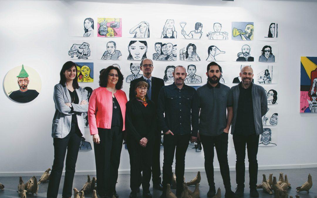 Inauguración de la muestra 'Blanco 16/17' en el centro Joaquín Roncal