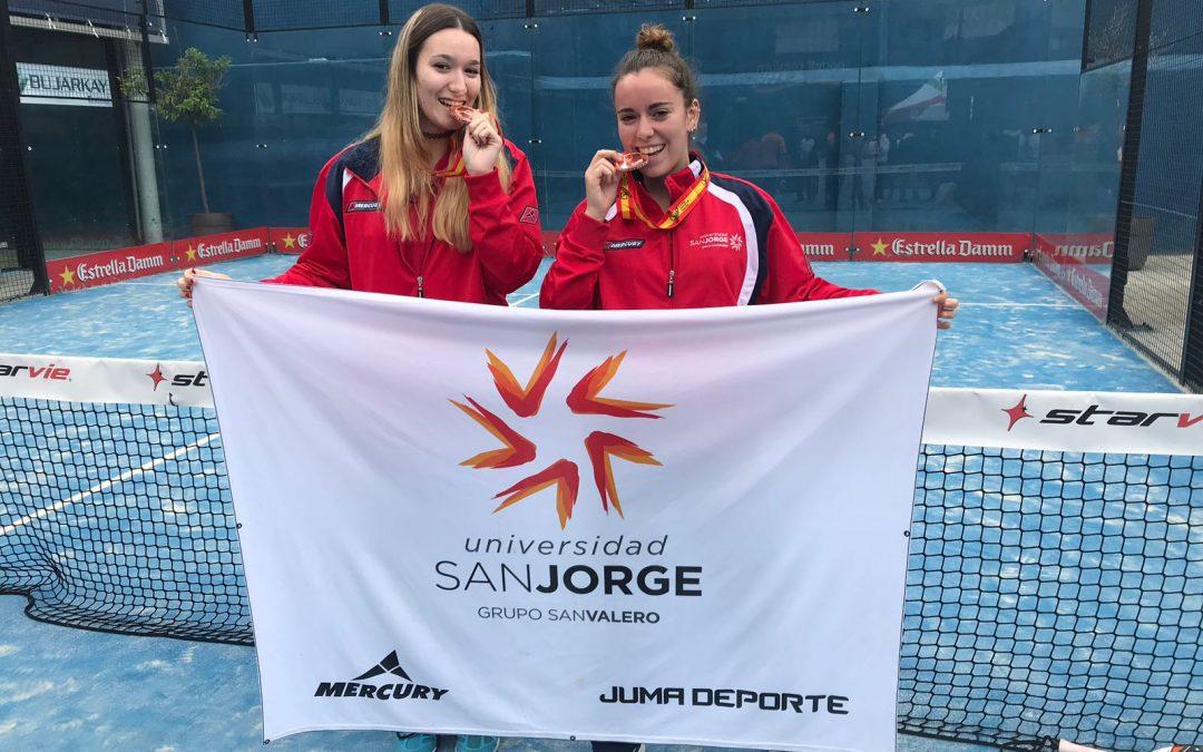 Las estudiantes de la USJ Pilar e Isabel Goni consiguen el bronce en el Campeonato de España Universitario de Pádel