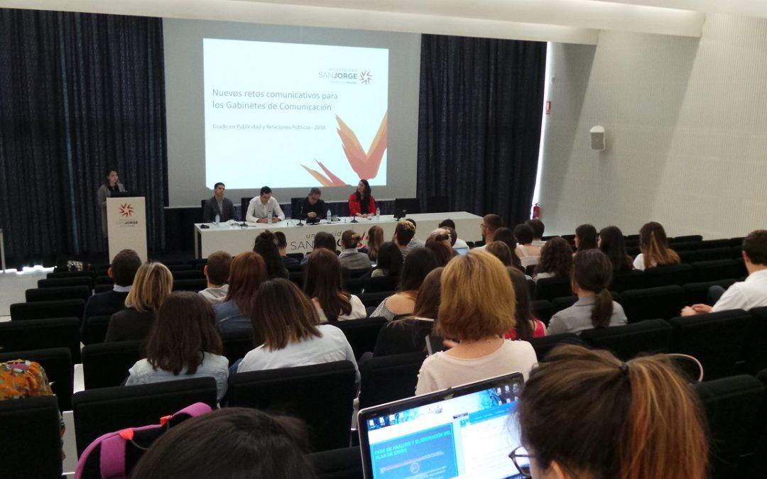 Los retos de los gabinetes de comunicación a debate en la Facultad de Comunicación y Ciencias Sociales