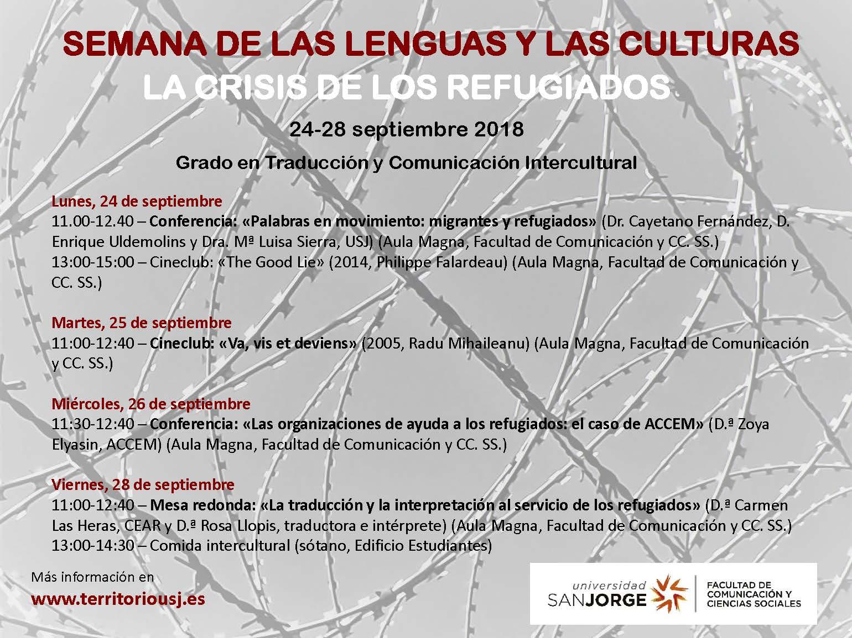 Programa de la Semana de las lenguas y las culturas