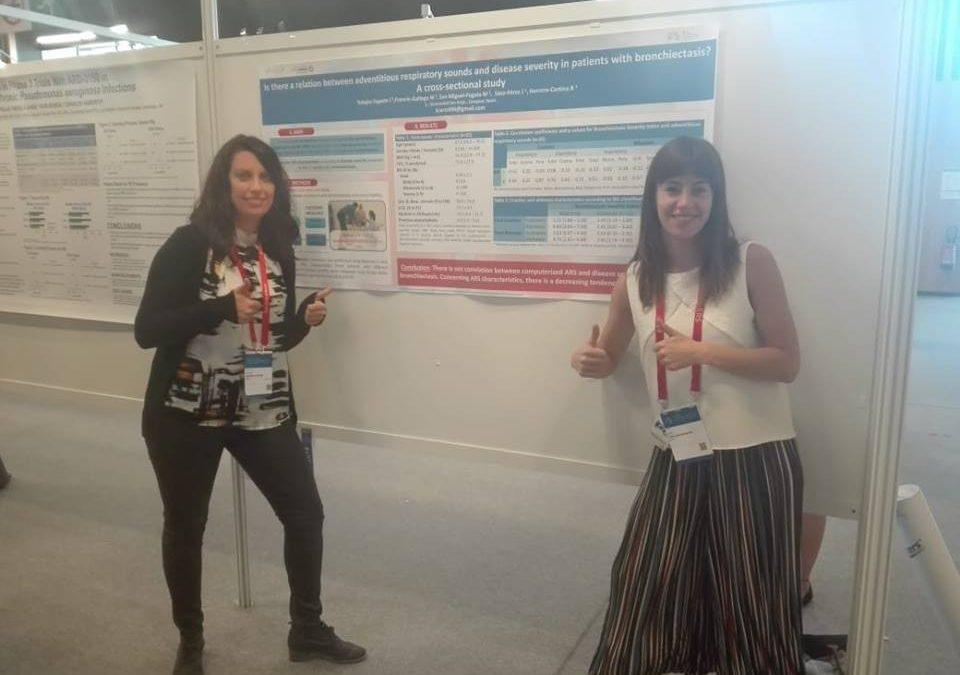 Icíar Tobajas, egresada de Fisioterapia, presenta su Trabajo Final de Grado sobre bronquiectasias en el Congreso Europeo de Neumología celebrado en París
