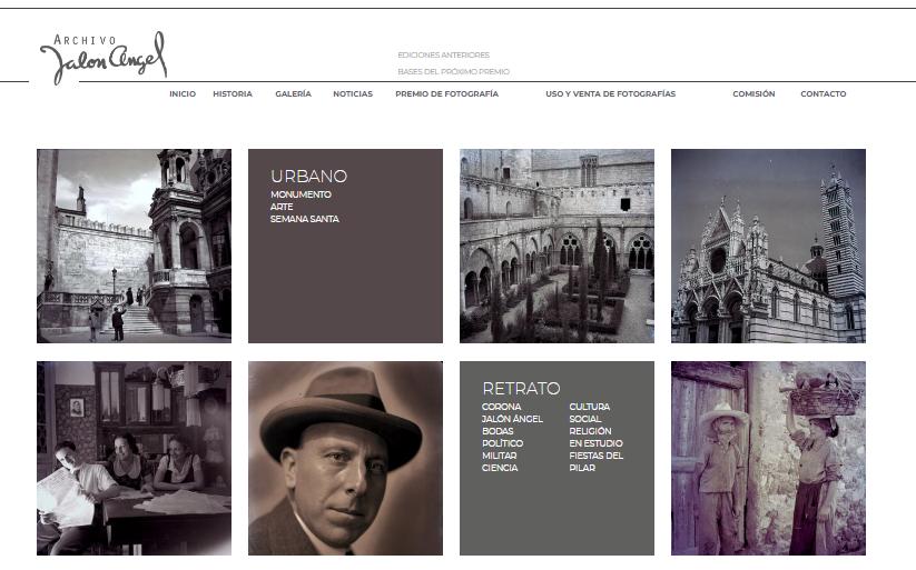 El Archivo Jalón Ángel cambia de imagen con la renovación de su página web