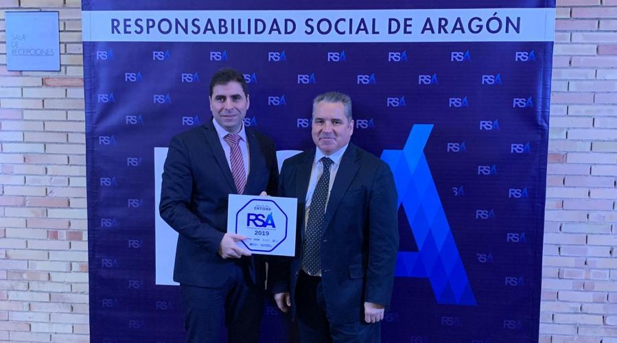 Grupo San Valero obtiene el sello Responsabilidad Social Aragonesa 2019