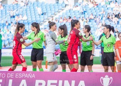 Momento del partido que arbitró Elena Pardos