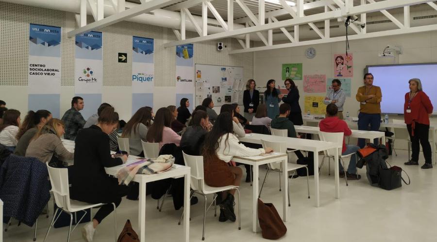 Centro sociolaboral de Centro San Valero participa en USJConnecta