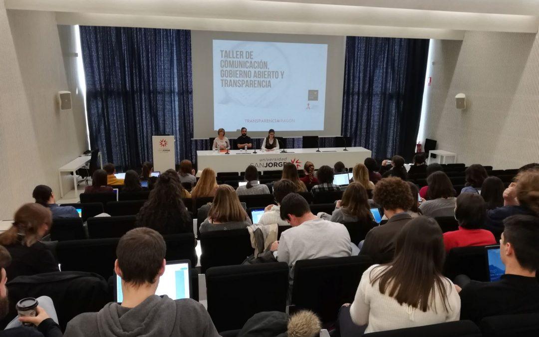 La USJ acoge la primera actividad de la Semana del Gobierno Abierto organizada por el Gobierno de Aragón