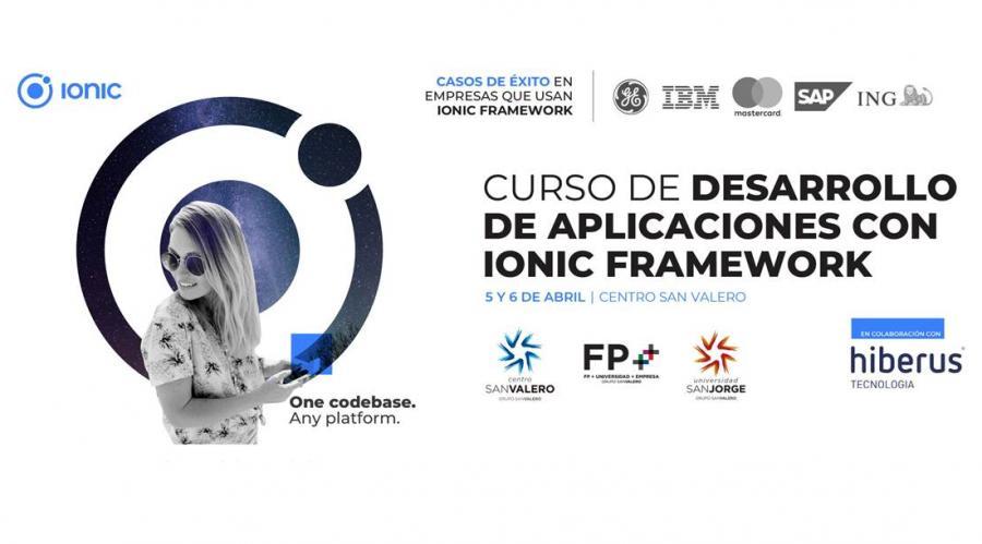 Centro San Valero y USJ organizan el «Curso de Desarrollo de Aplicaciones con Ionic Framework»