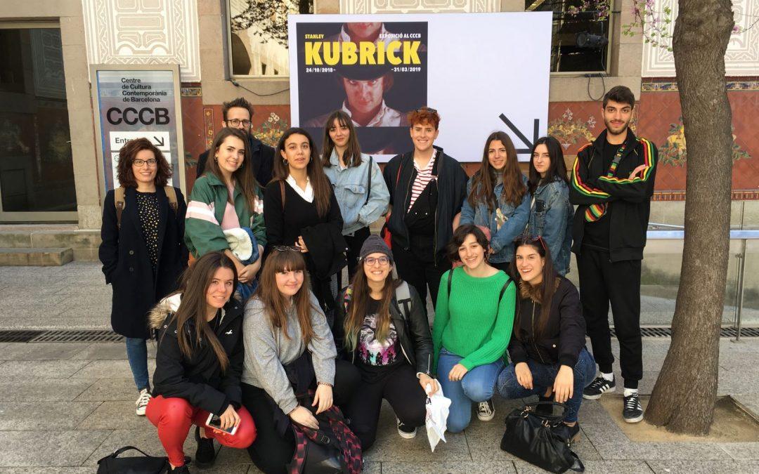 El grado en Comunicación Audiovisual visita la exposición «Stanley Kubrick»