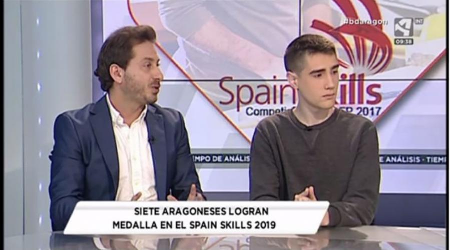El alumno David Franco, de Centro San Valero, ganador de Spainskills 2019 en Aragón TV