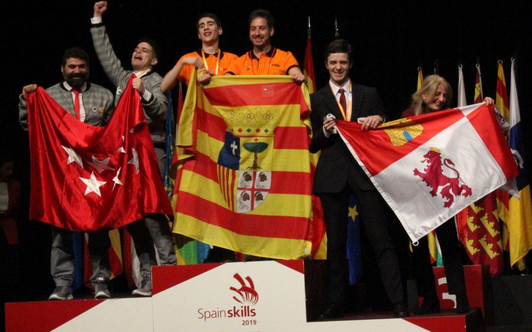 El alumno de Centro San Valero David Franco Sánchez, medalla de oro en Spainskills 2019