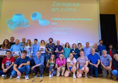 Momento de la II Edición de Zaragoza en Corto