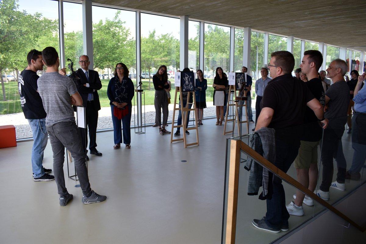 Inauguración de la exposición Entre Luces_Homenaje a Pablo Gargallo en la USJ