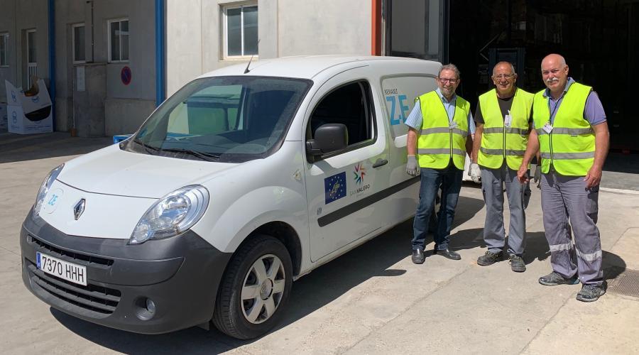 Grupo San Valero dona 550 litros de leche al Banco de Alimentos de Zaragoza