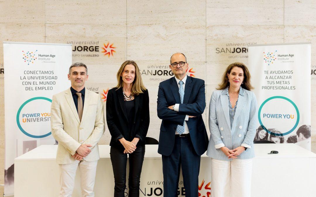 La Universidad San Jorge alcanza un acuerdo con Human Age Institute para promover la empleabilidad de los jóvenes