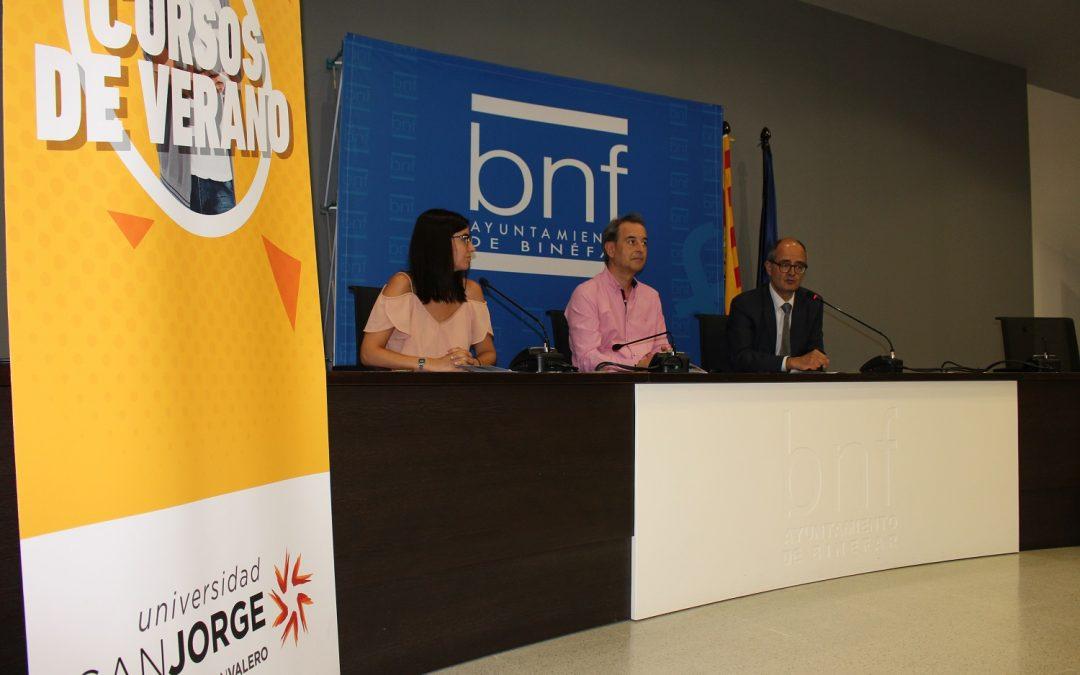 La Universidad San Jorge se instalará la próxima semana en Binéfar con un aula móvil para desarrollar sus cursos de verano