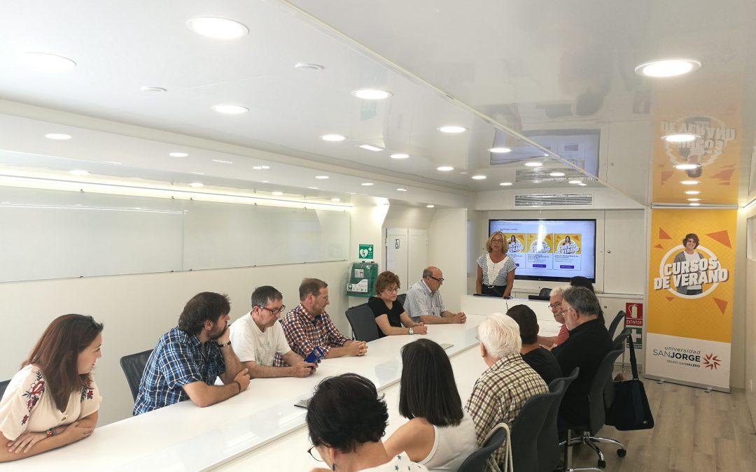 El aula móvil de los cursos de verano se instala esta semana en Calatayud