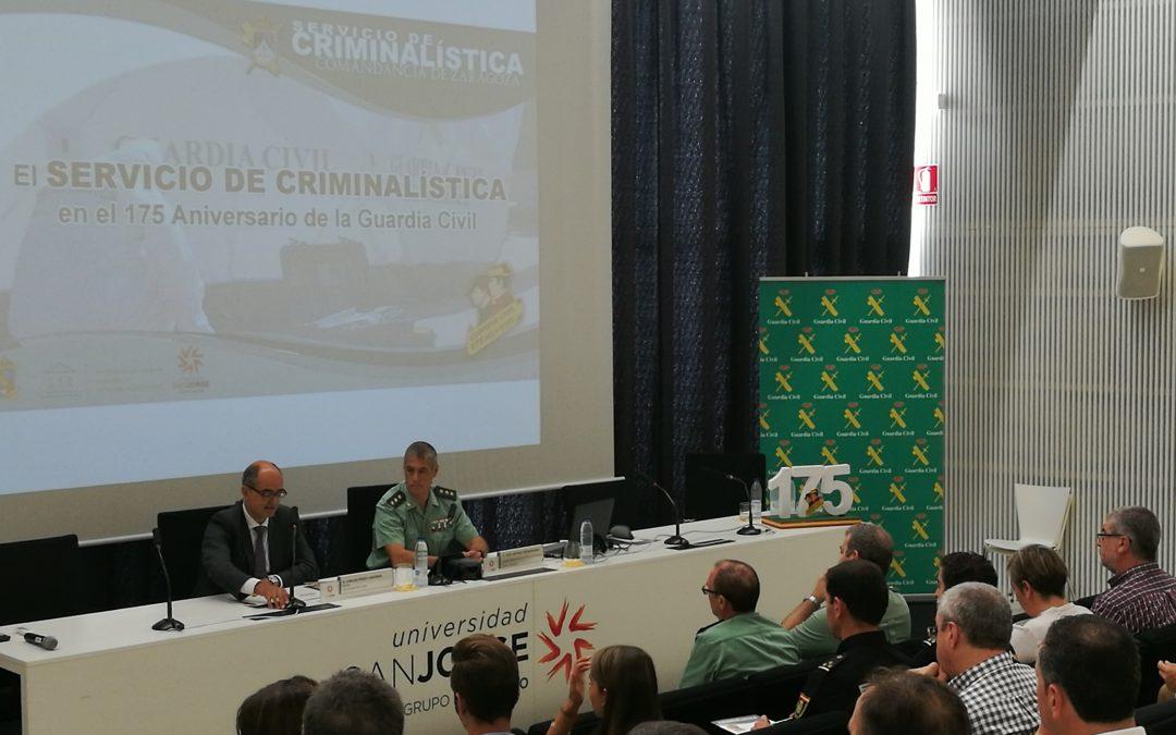 La Universidad San Jorge acoge una jornada de criminalística de la Guardia Civil