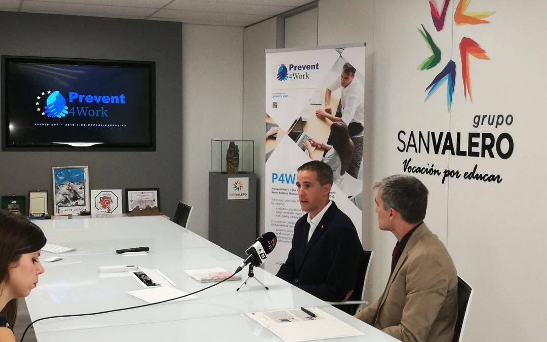 La Universidad San Jorge presenta el proyecto Prevent4Work, que desarrolla materiales educativos y tecnologías innovadoras para prevenir lesiones musculoesqueléticas relacionadas con el trabajo
