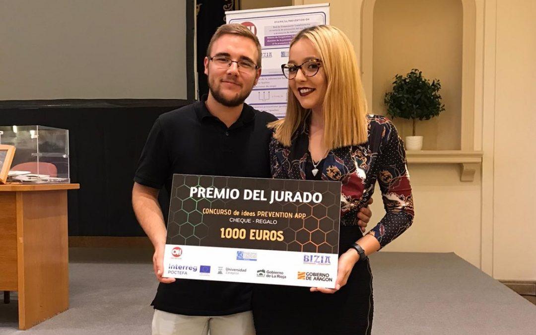 Los alumnos David Moreu y Lucía Santos ganan el concurso de ideas Prevention App