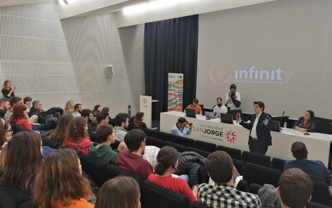Exalumnos de la Universidad San Jorge comparten sus experiencias emprendedoras en el ámbito de la comunicación