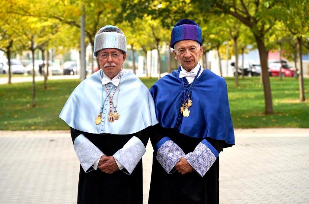 Luis Oro y Guillermo Fatás, primeros doctores Honoris Causa de la USJ