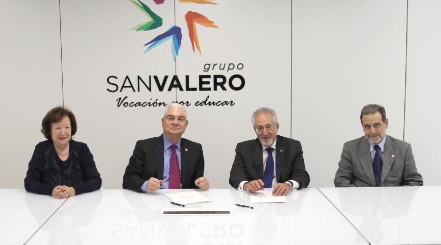 La Academia de Ciencias y Grupo San Valero firman un convenio de colaboración en materia docente y científica