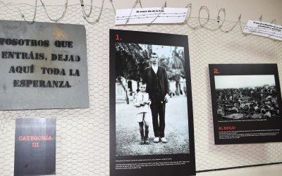 Centro San Valero acoge una exposición sobre el sufrimiento de los presos en los campos de concentración nazi