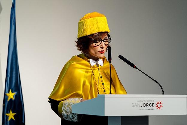 La Universidad San Jorge nombra rectora a Berta Sáez, actual decana de la Facultad de Ciencias de la Salud