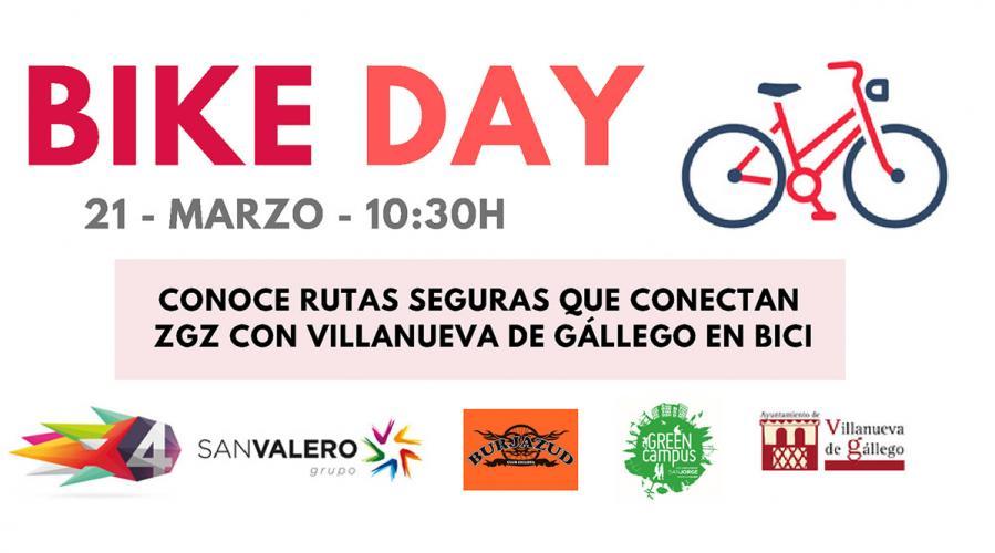 El 'Bike day' invita a explorar rutas en bici entre Zaragoza y la USJ