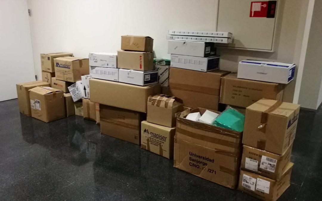 La Universidad San Jorge dona material sanitario y de laboratorio para hacer frente al COVID-19
