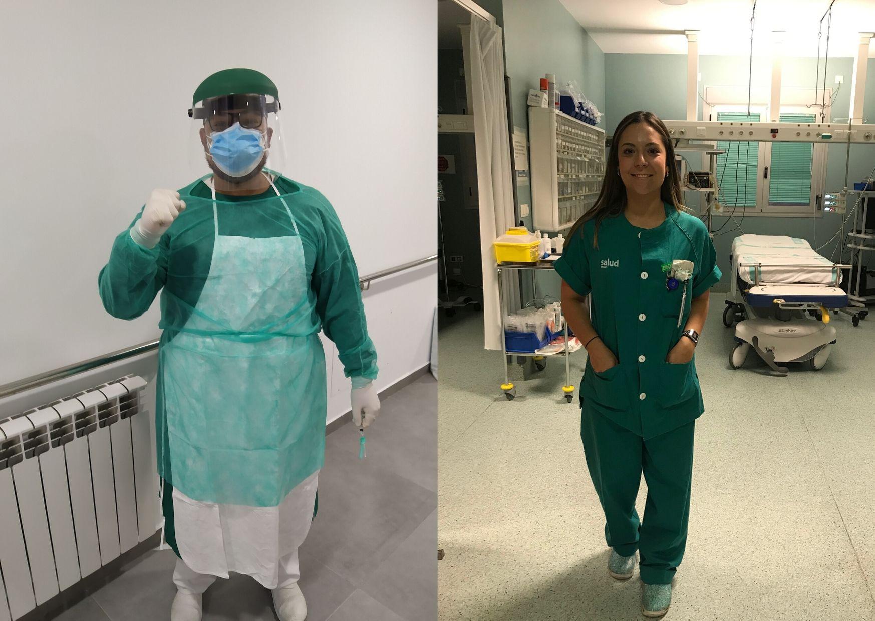 Jhon Maicas y Sofía Gómez, enfermeros de la USJ