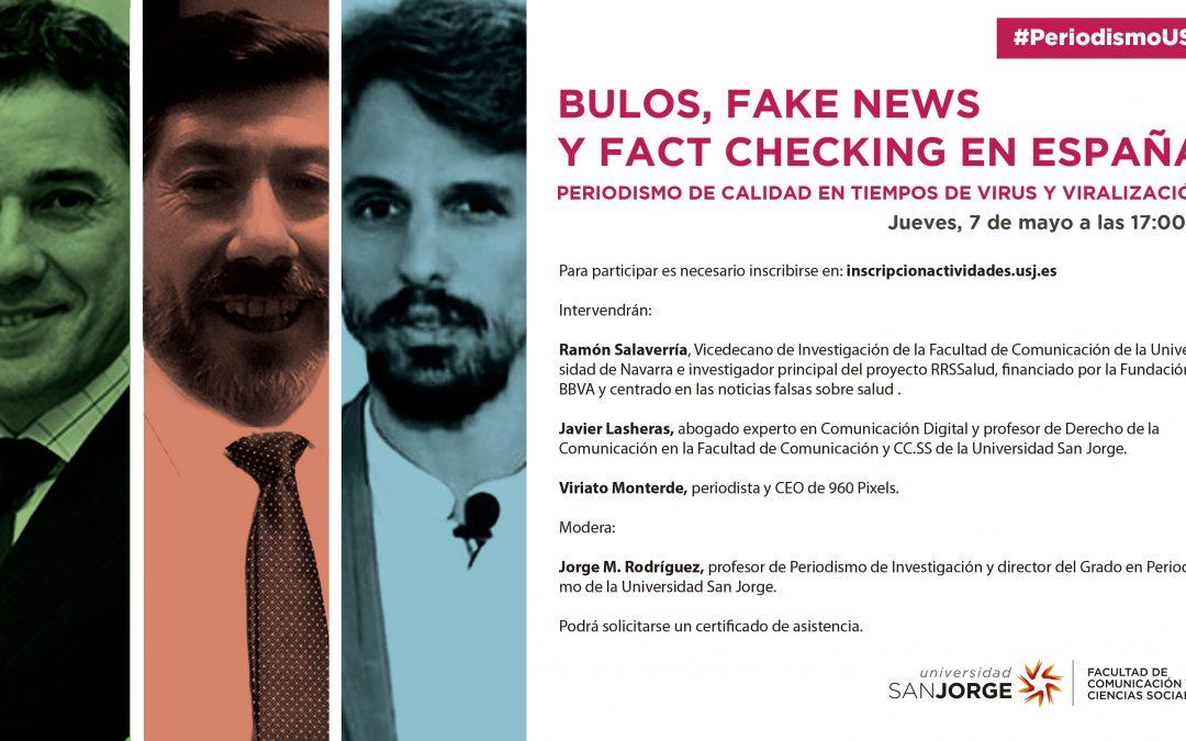 El grado en Periodismo organiza un webinar gratuito y abierto sobre bulos, noticias falsas y verificación de datos