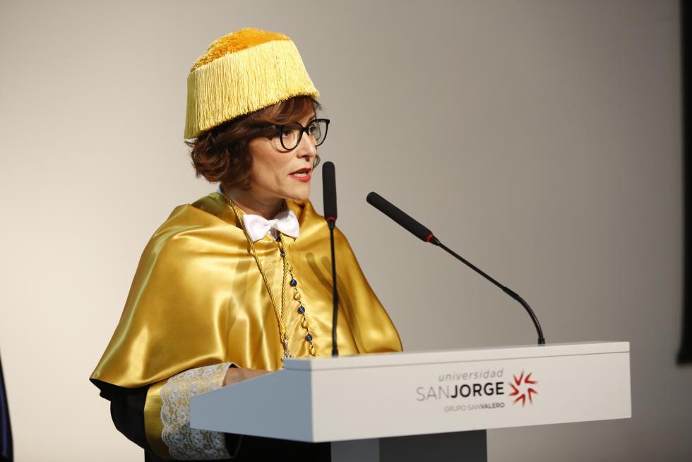 Berta Sáez desempeñará desde mañana su cargo de rectora de la Universidad San Jorge