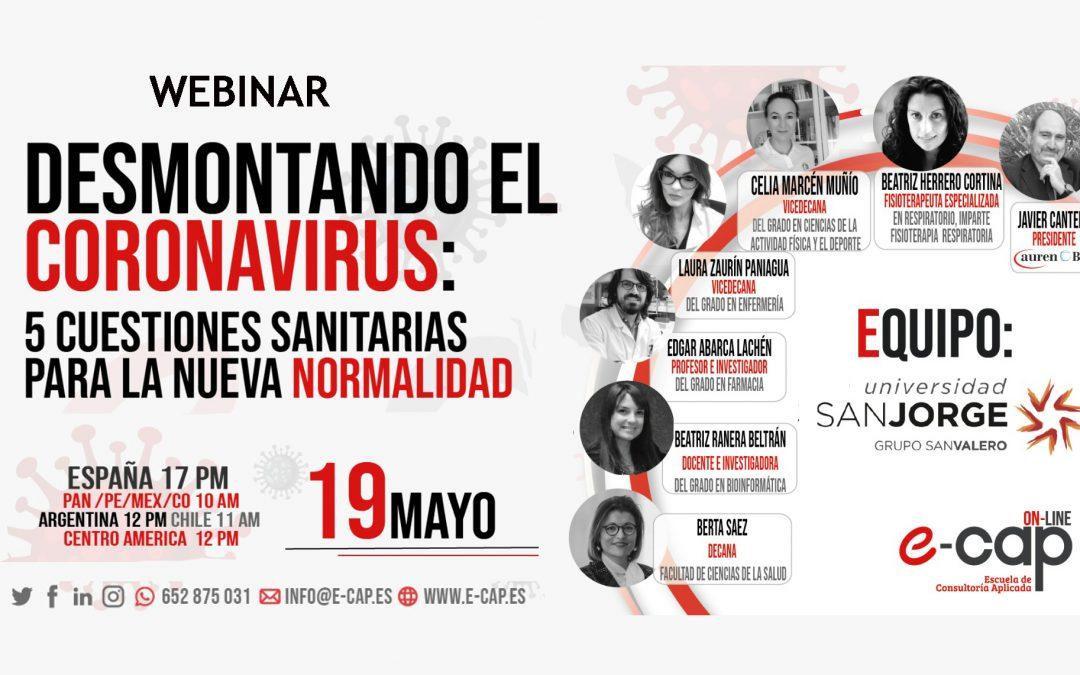"""La Universidad San Jorge y la consultora Auren organizan el webinar """"Desmontando el coronavirus"""""""