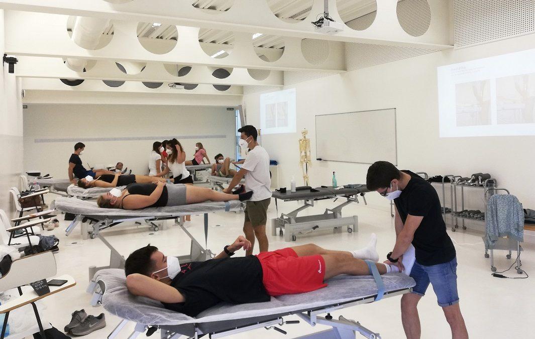 Alumnos de Fisioterapia y CCAFD de la USJ recuperan prácticas que no pudieron realizar el curso pasado
