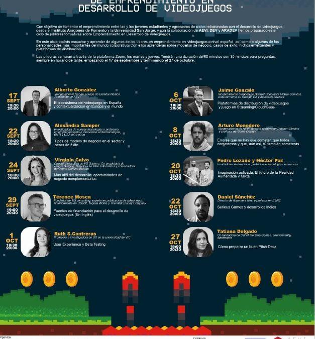 La Universidad San Jorge y el Instituto Aragonés de Fomento organizan Ciclos Formativos de Emprendimiento en Desarrollo de Videojuegos