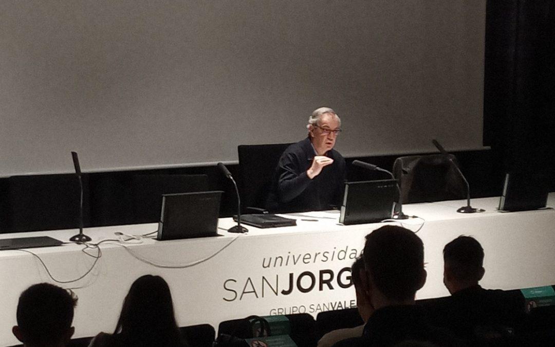 Pedro Baringo, presidente del Patronato del Grupo San Valero, participa en un seminario sobre abogacía en la Universidad San Jorge
