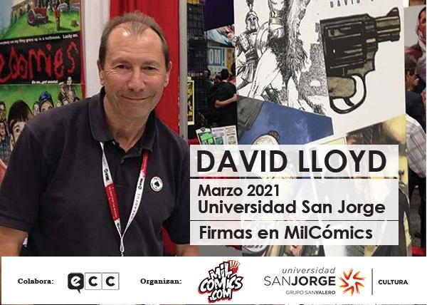 David Lloyd llega a Zaragoza de la mano de Mil Cómics y la Universidad San Jorge